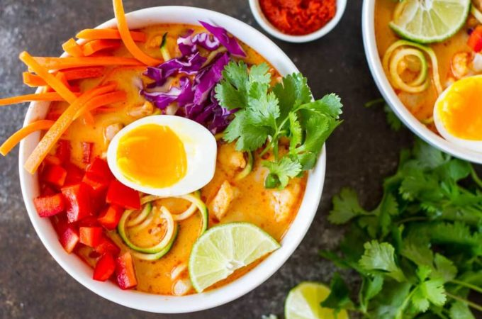 Thai Red Curry Coconut Soup | www.savory lotus
