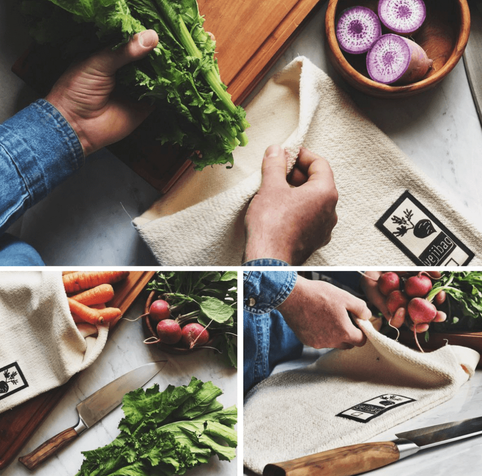 Ways to Use Less Plastic in the Kitchen | terry clothe produce bags