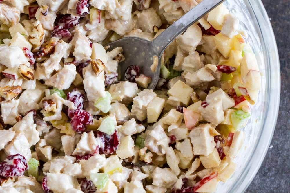 Cranberry Apple Chicken Salad \\\\ www.savorylotus.com