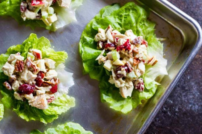 Cranberry Apple Chicken Salad || www.savorylotus.com