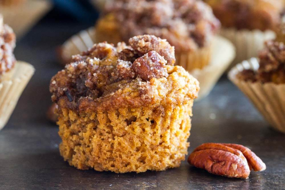 Mini Pumpkin Muffin without the wrapper