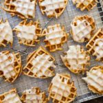 Mini Apple Fritter Waffles (gluten free and paleo) | www.savorylotus.com