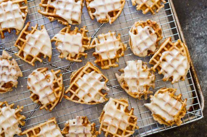 Mini Apple Fritter Waffles (gluten free and paleo) | www.savorylotus.com