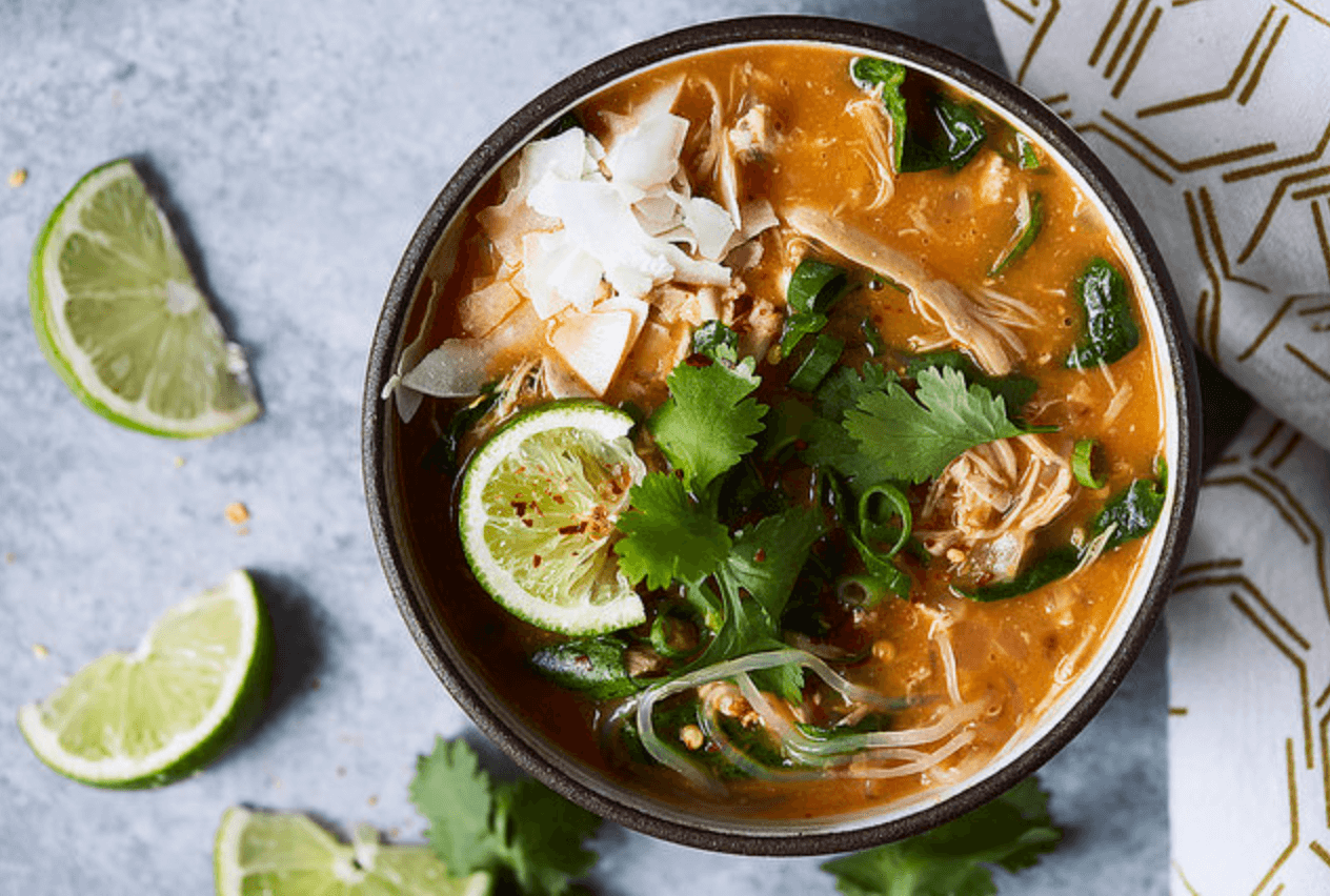 30 Easy Whole30 Soup Recipes | super quick coconut red curry soup