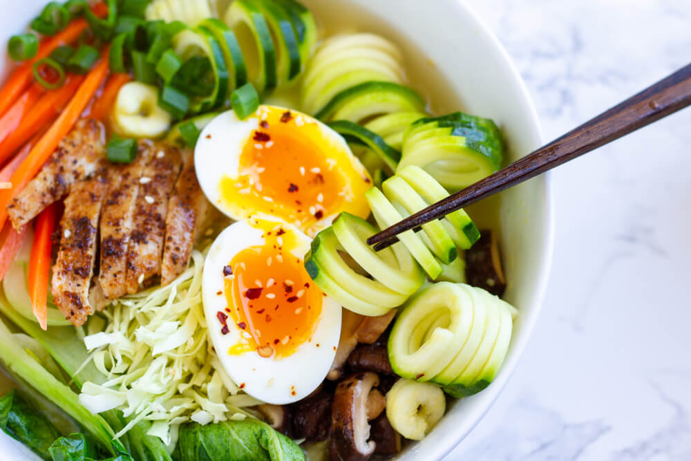 close up of Whole30 Ramen Bowl