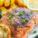 Easy Broiled Salmon | www.savorylotus.com
