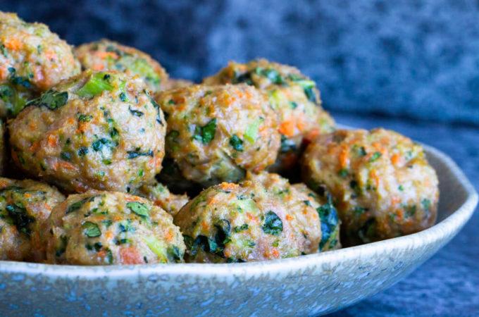 Loaded Veggie Turkey Meatballs )gluten free, paleo, whole30)   www.savorylotus.com