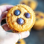 Blueberry Sweet Potato Muffins (gluten free and paleo) \ www.savorylotus.com