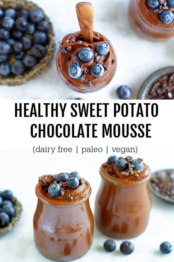 Healthy Sweet Potato Mousse (dairy free, paleo, and vegan) - www.savorylotus.com