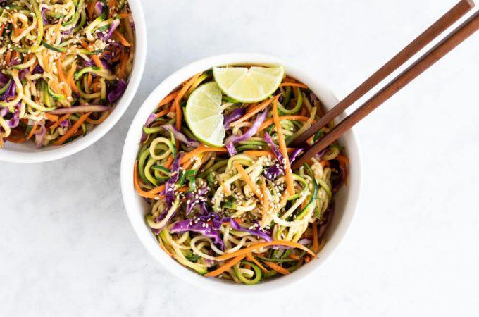 Asian Zucchini Noodles (gluten free and paleo) | www.savorylotus.com