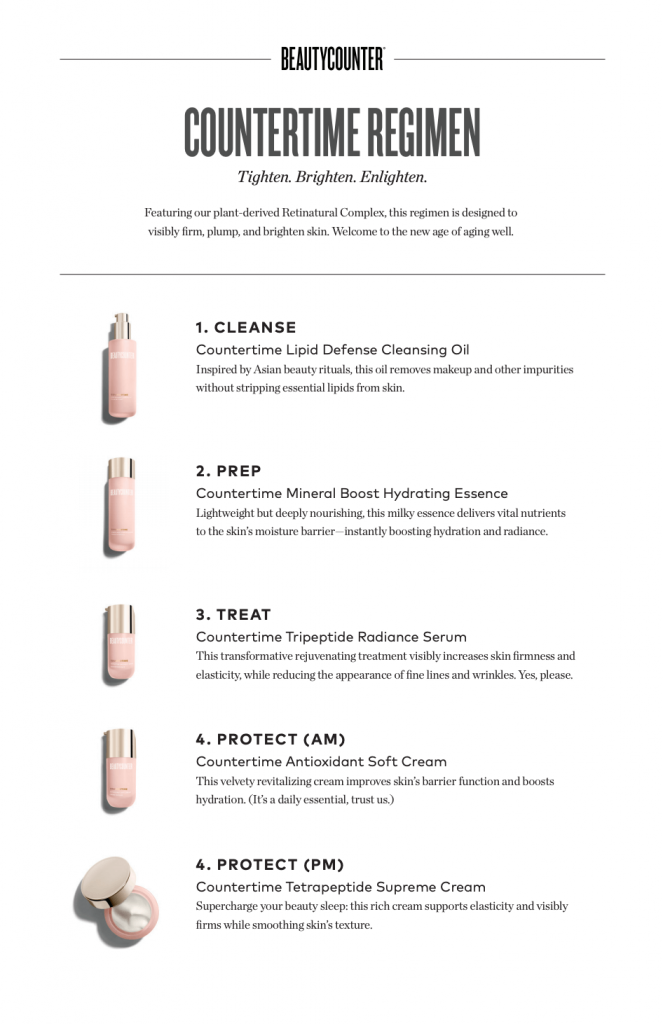 countertime beautycounter steps