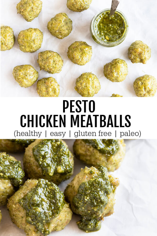 meatballs with pesto all over them