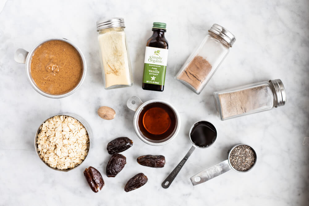 ingredients for gingerbread energy balls
